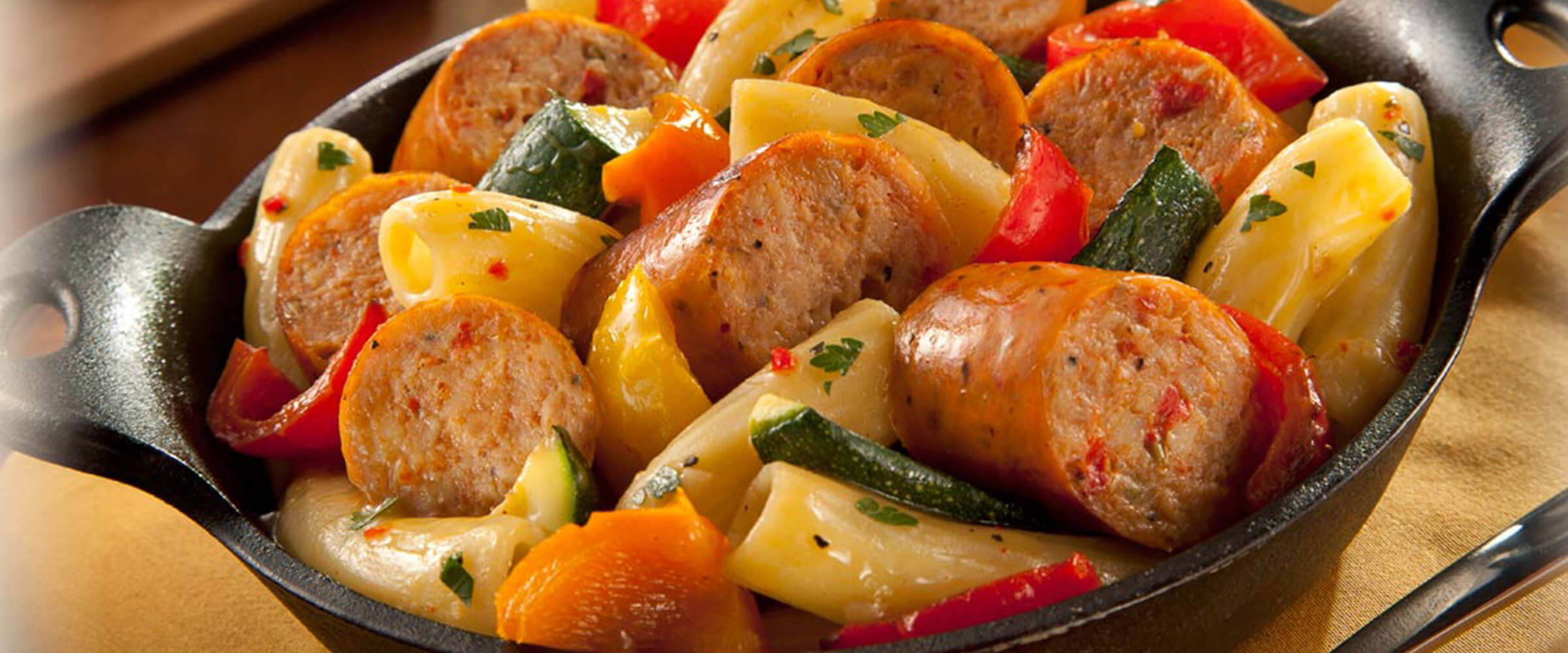 Skillet with Fontanini® sausage