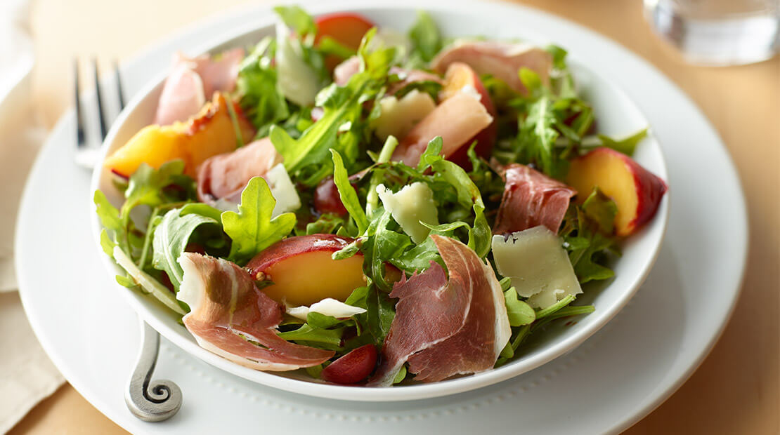 Prosciutto, Arugula and Pickled Stone Fruit Salad
