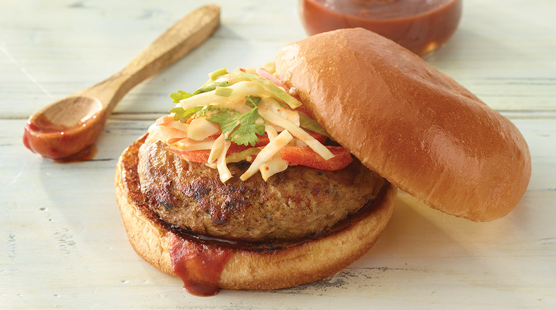 Korean Barbeque Turkey Burger