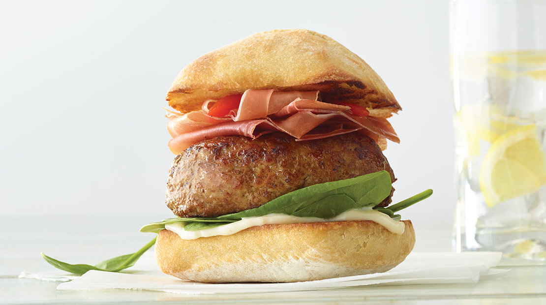 Saltimbocca turkey burger