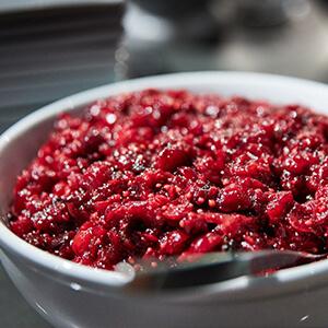 Shaken Cranberry Mostarda