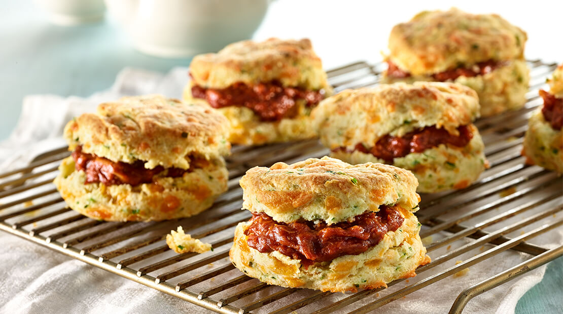 Cheddar Chive BBQ Biscuits