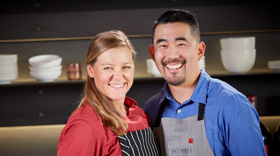 Evan Inada and Chef Christina