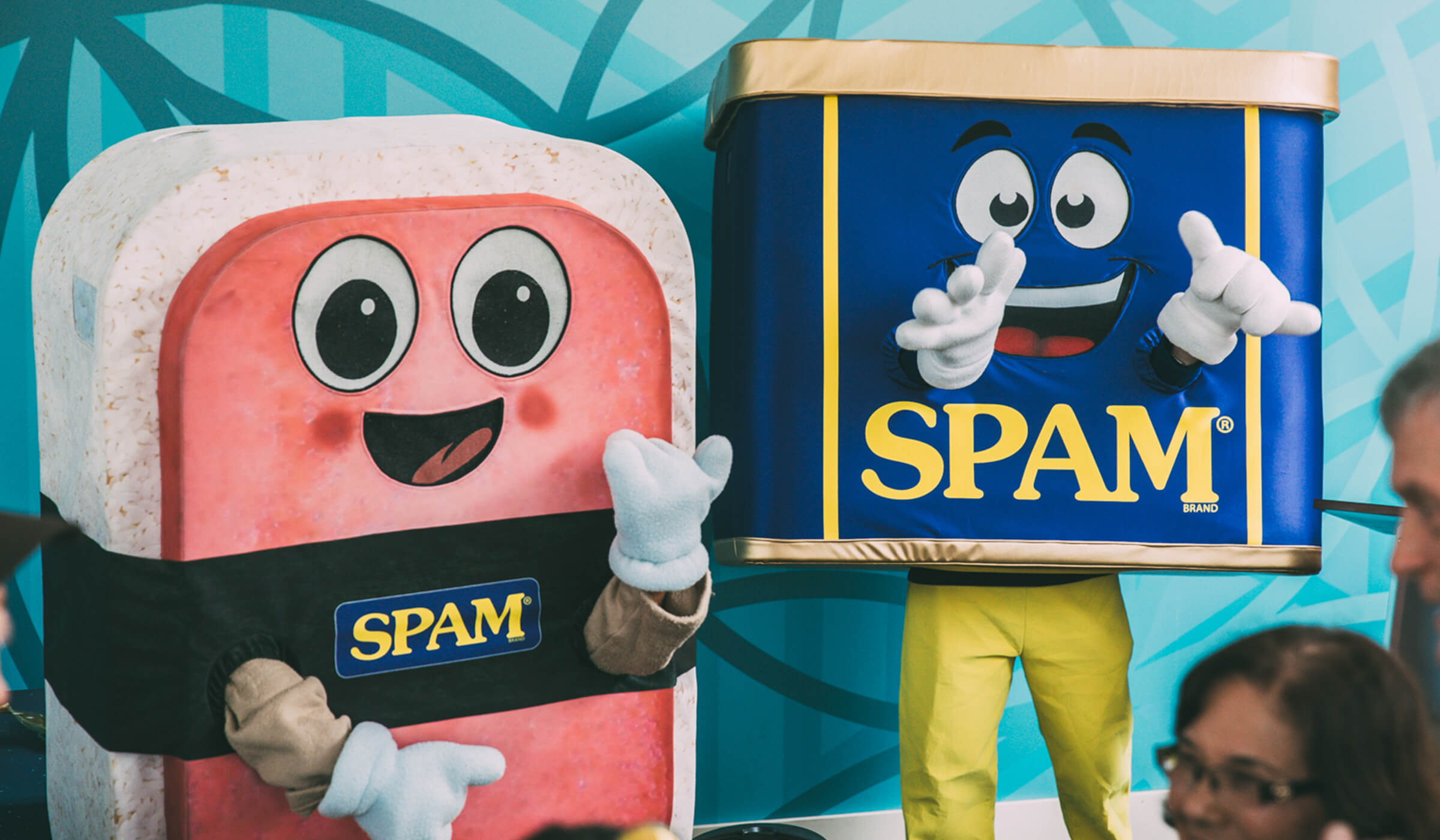 SPAM® mascots at SPAM JAM® Festival