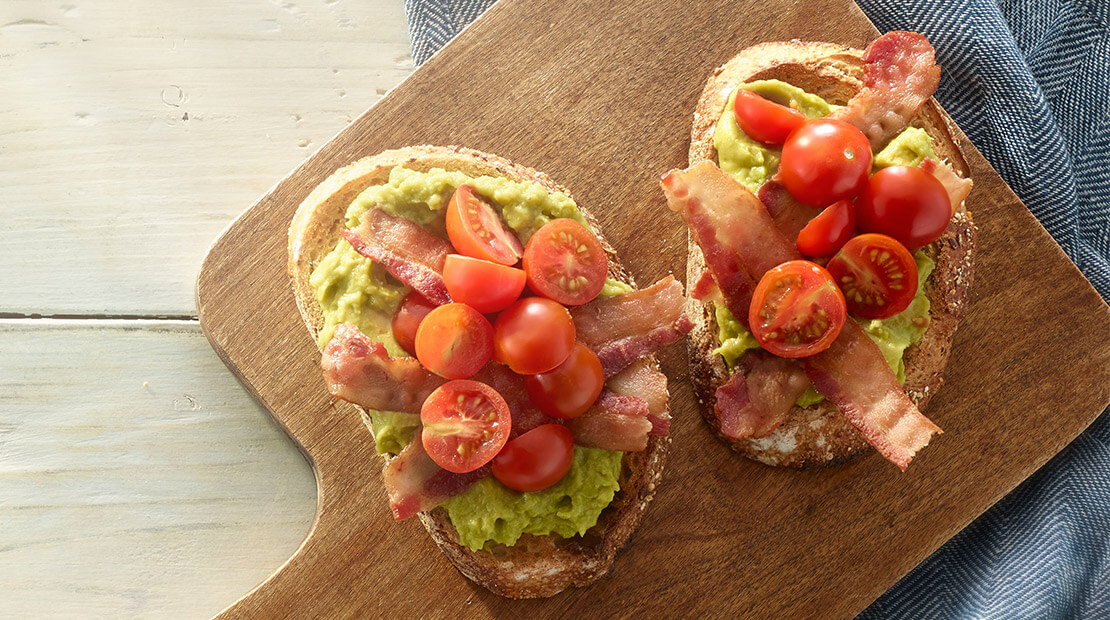 Bacon-Avocado-Tomato Toast