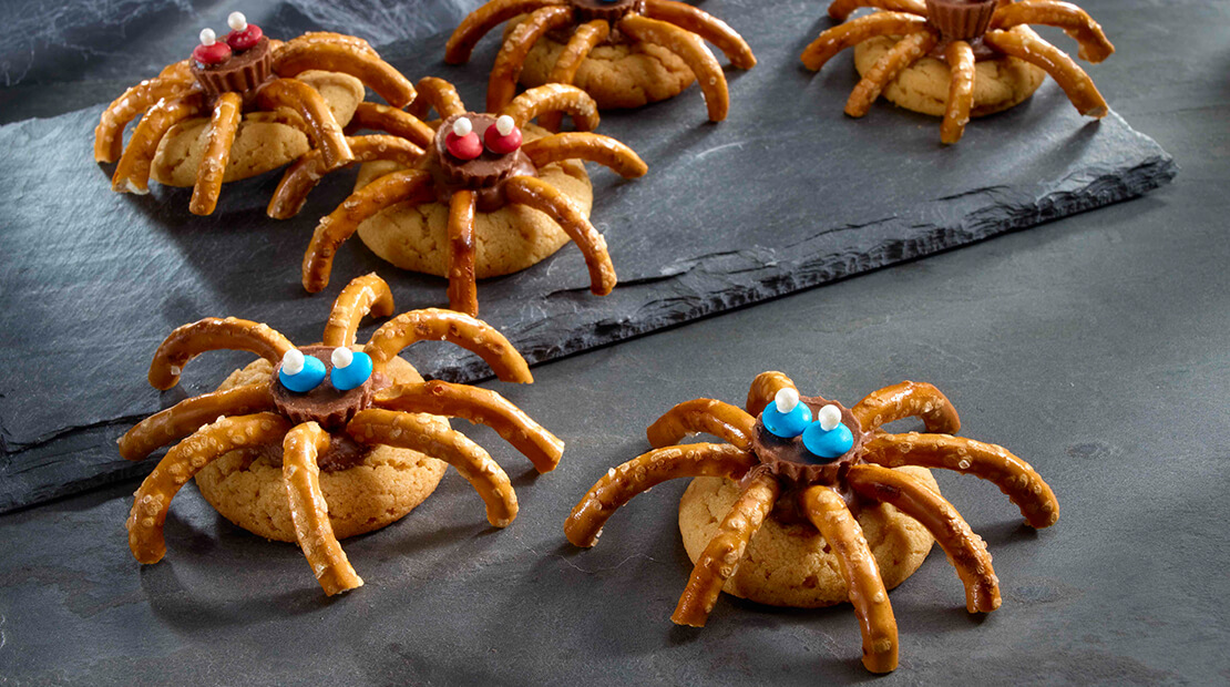 Spidery Peanut Butter Cookies