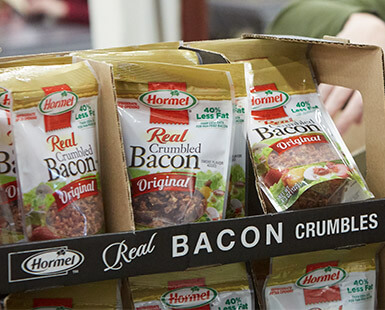 Packaging Reduction Bacon Toppings