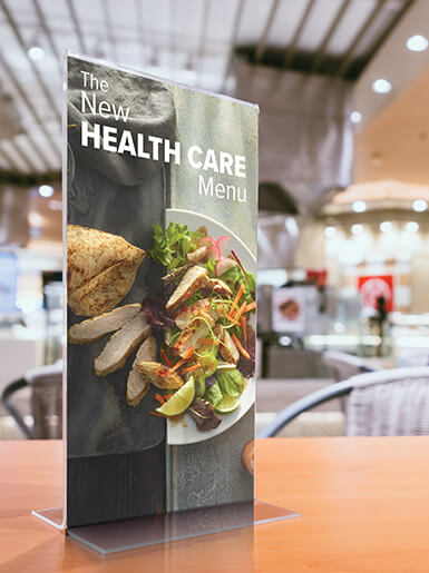 New Health Care Menu