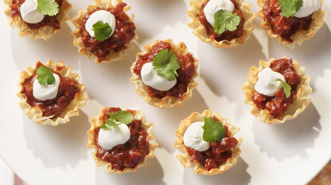 BBQ Phyllo Cups