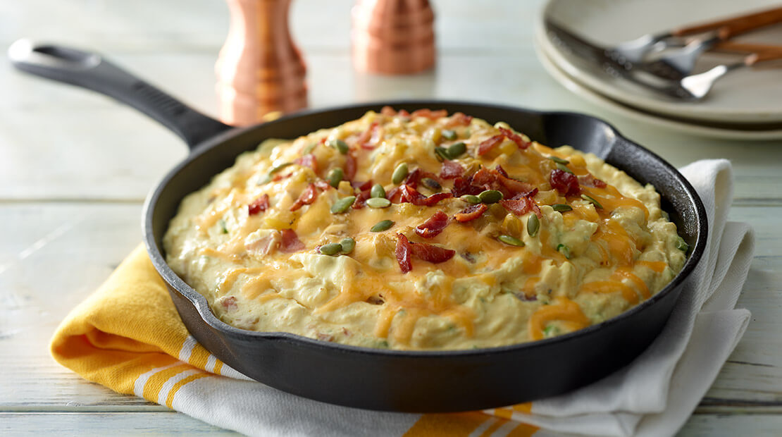 Green Chili Whipped Potatoes
