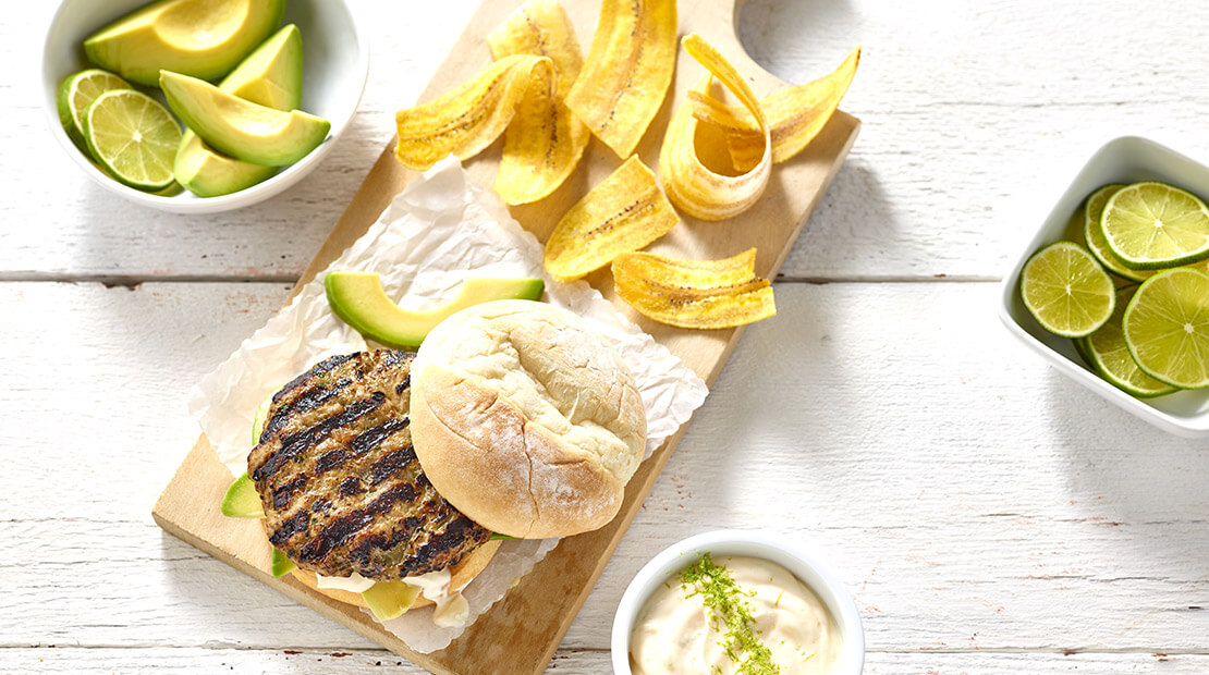 Spiced Turkey Burger with Avocado by Chef Vanessa Cantave