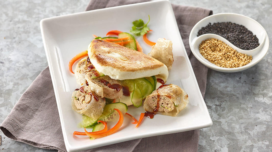 Turkey Burger Spring Roll by Chef Chris Cheung