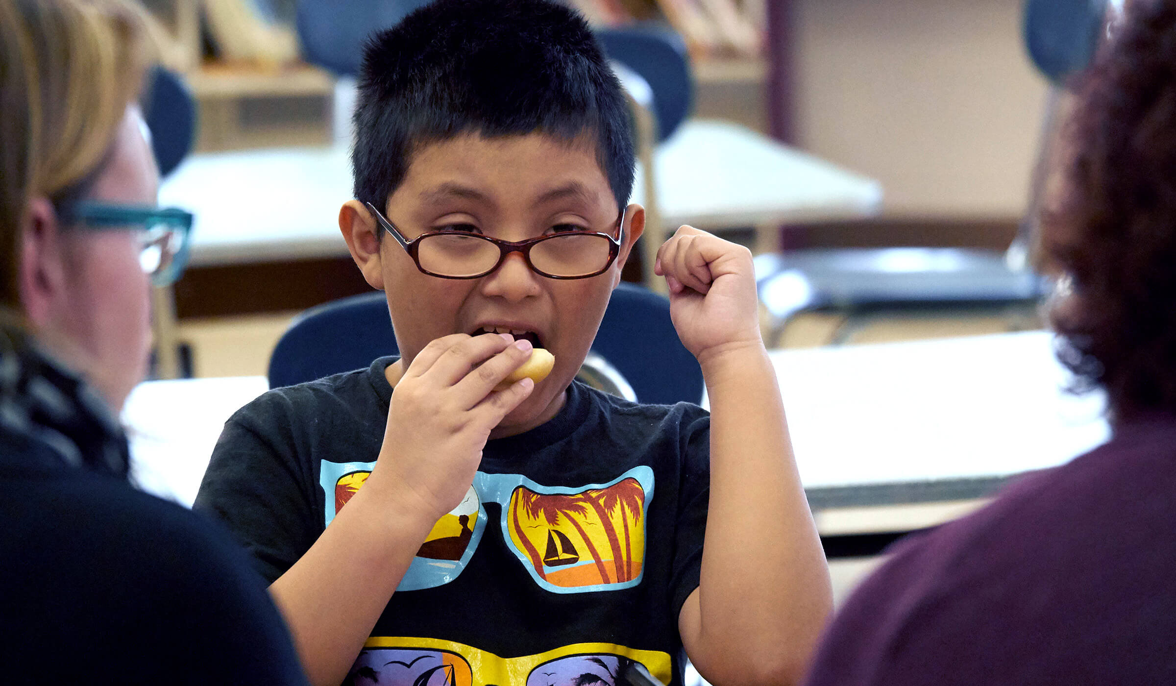 Students Taste Testing SKIPPY® P.B. & Jelly Minis