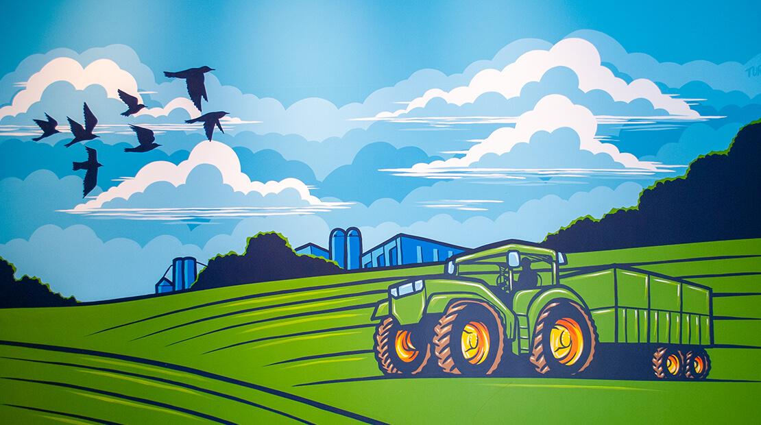 Tractor Mural SPAM Museum