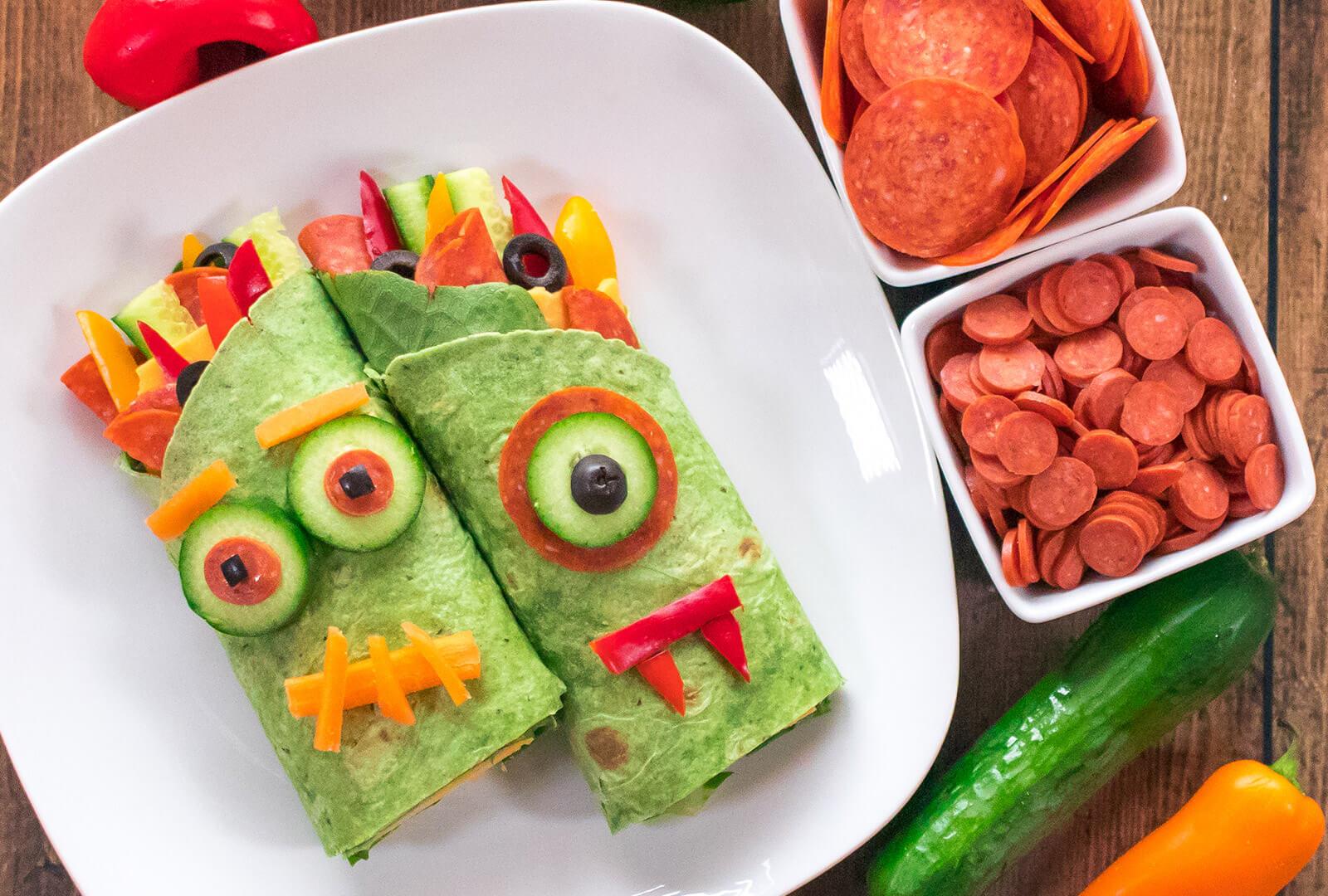 Pepperoni Monster Wraps