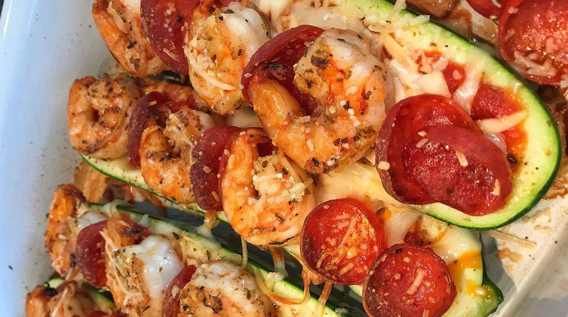 Zucchini Boat Pizzas