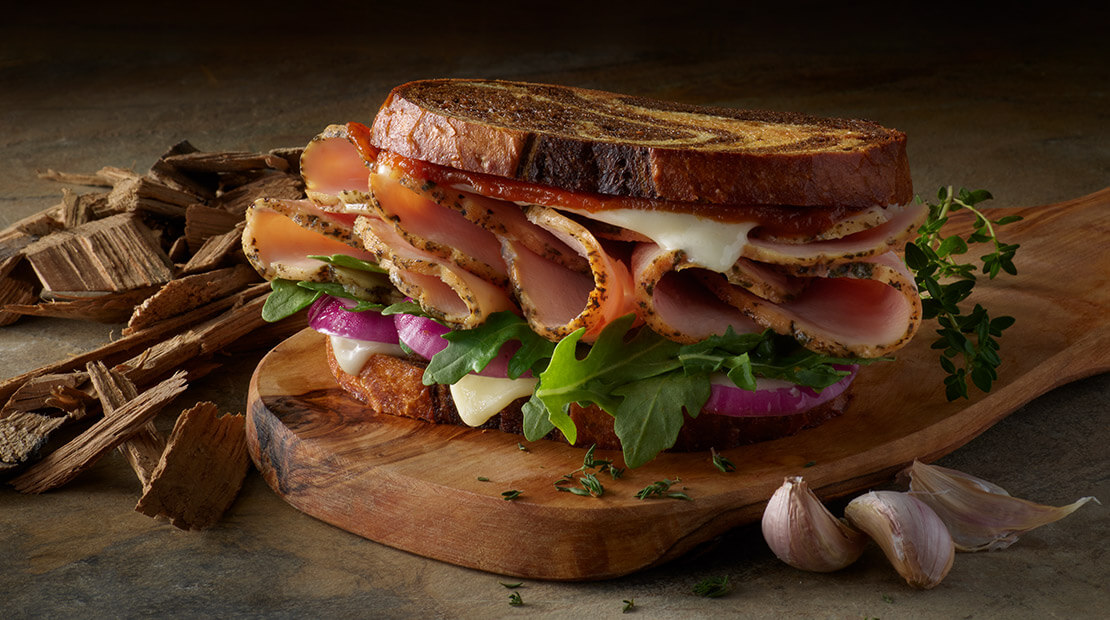 Grilled Garlic And Herb Turkey Sandwich from Big Moe Cason