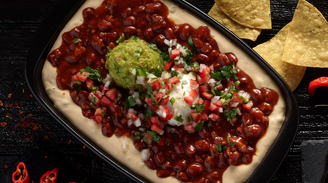 world's hottest chili layered queso dip