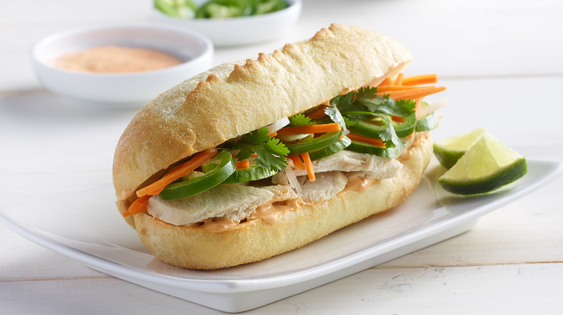 Leftover Turkey Bahn Mi