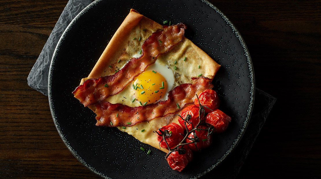 Bacon and Egg Crepes