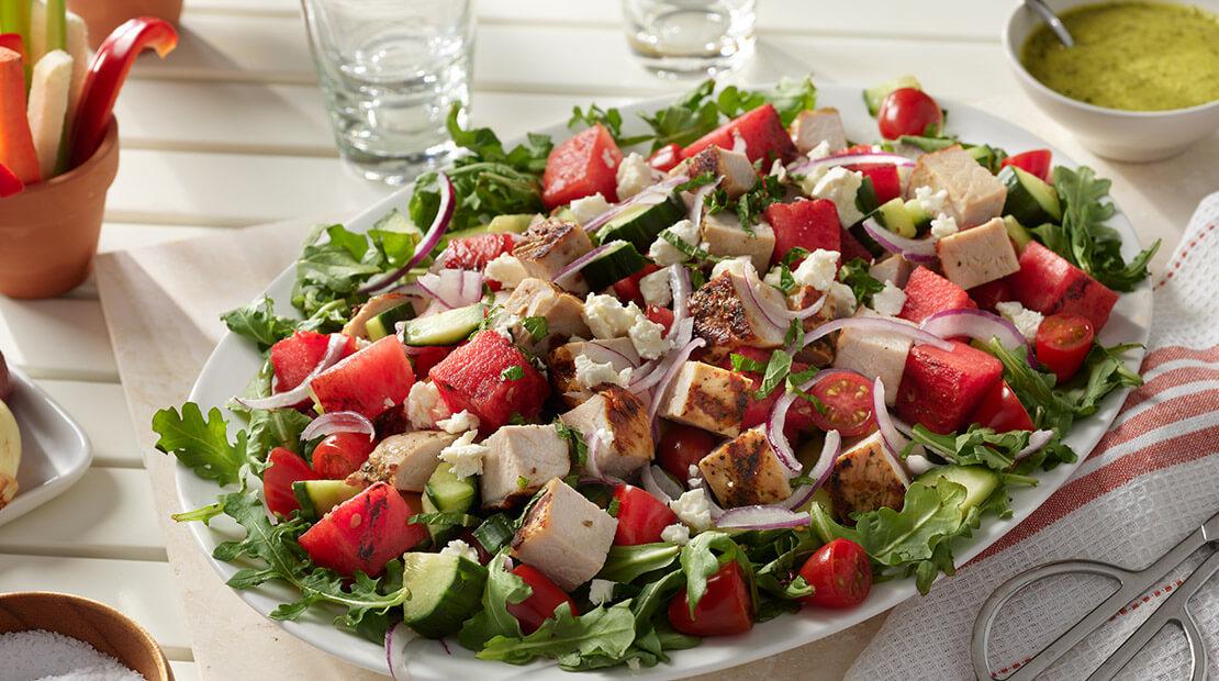 HORMEL® ALWAYS TENDER® Pork Loin, Watermelon and Arugula Salad