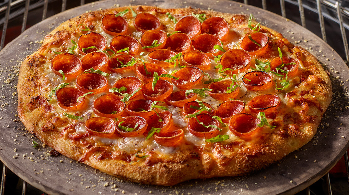 Grilled Pizza with Cup N Crisp Pepperoni