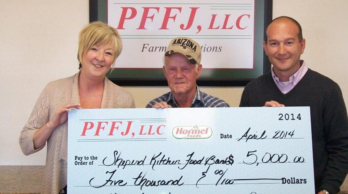2014 PFFJ donation