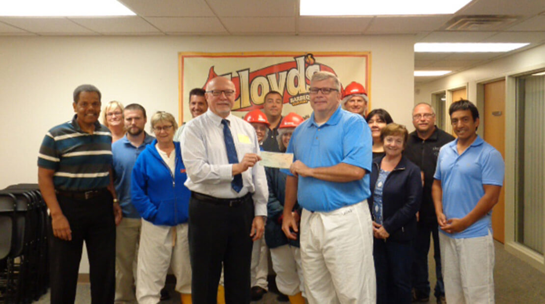 2016 Lloyd's Barbeque Company Donation