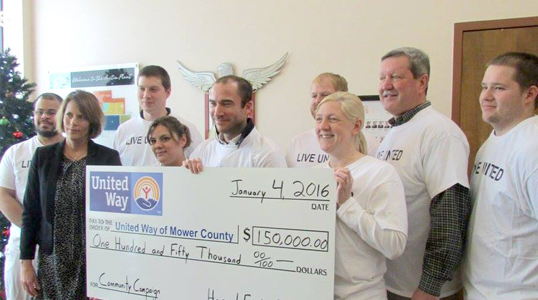 2016 Austin Plant United Way Donation
