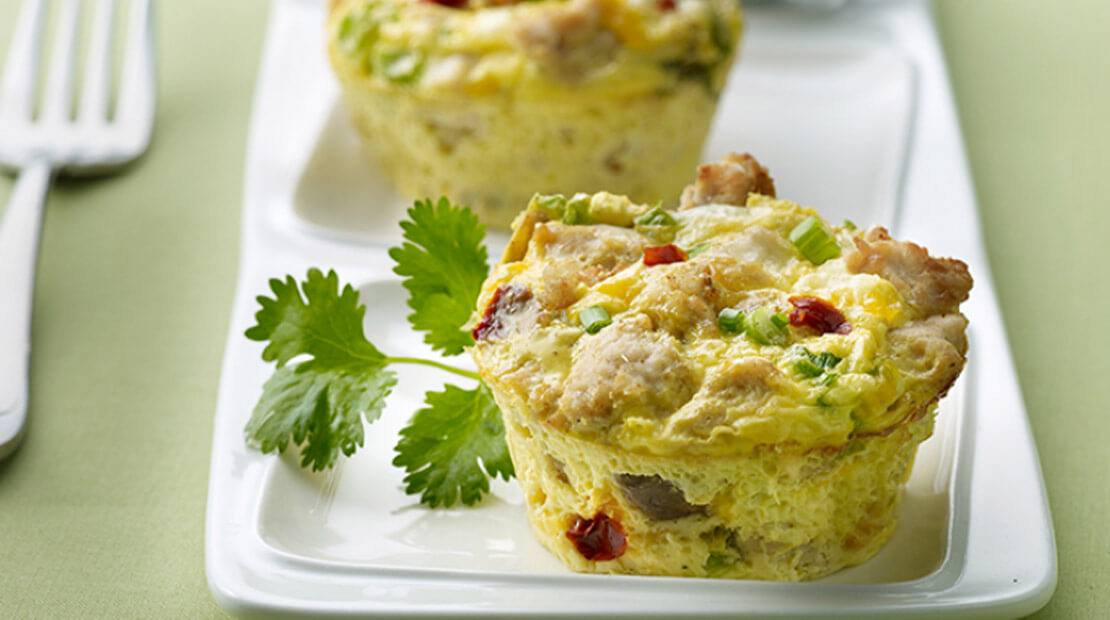 Mexican Turkey Frittatas: