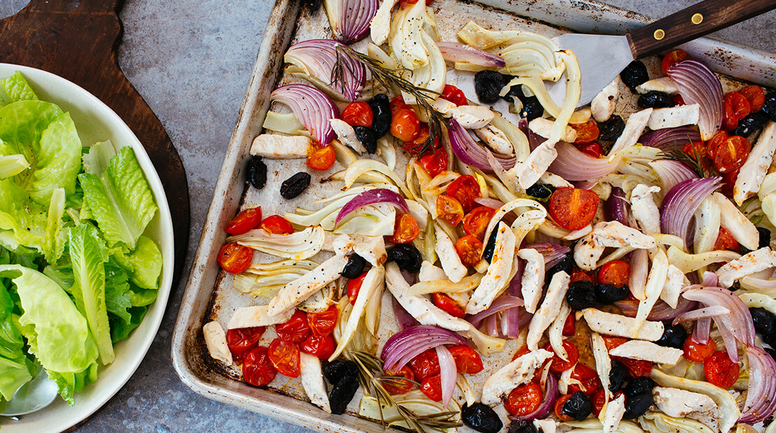 Mediterranean Sheet Pan Supper