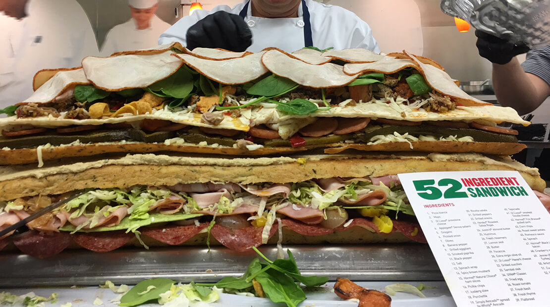 52-Ingredient Sandwich