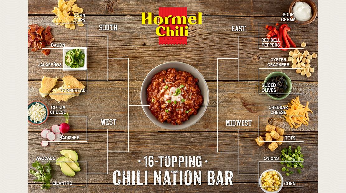 16-Topping Chili Nation Bar
