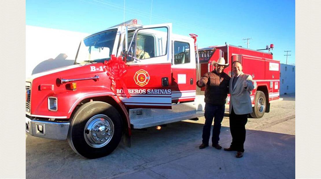 MegaMex Foods Firetruck Donation