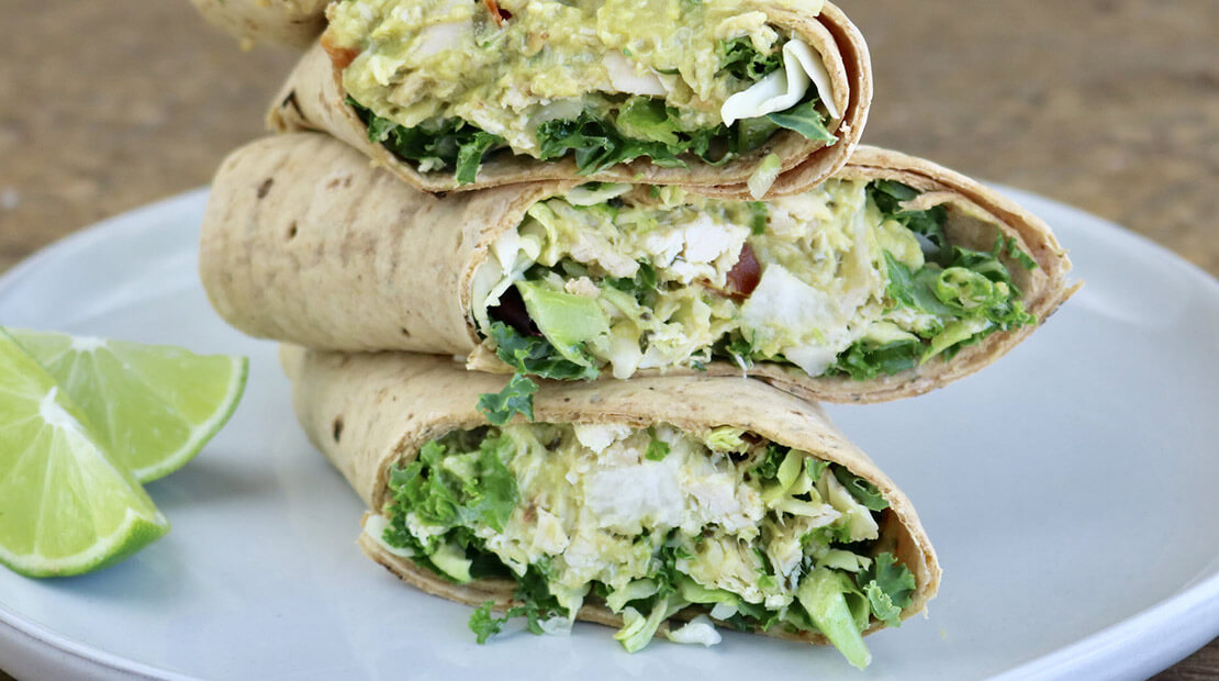 HOMESTYLE GUACAMOLE CHICKEN WRAPS
