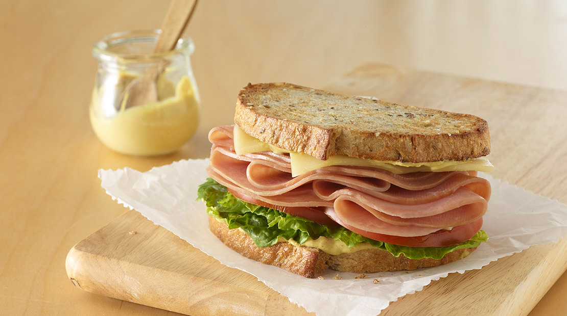 Natural choice ham sandwich