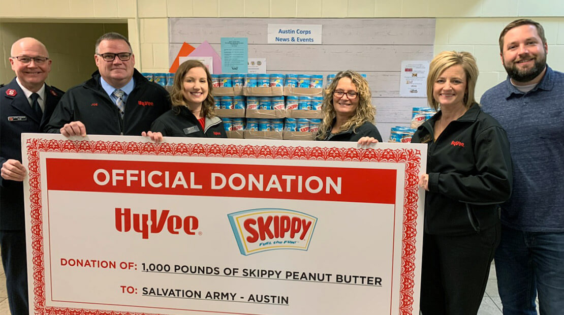 SKIPPY HyVee Donation in Austin