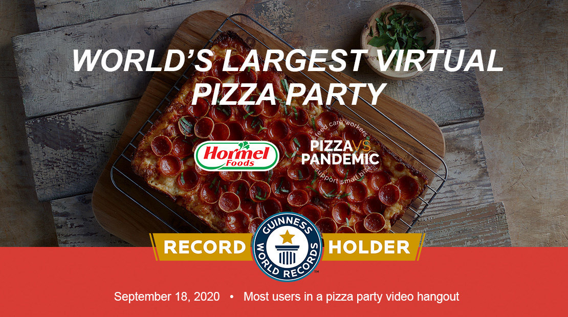 Largest Virtual Pizza Party
