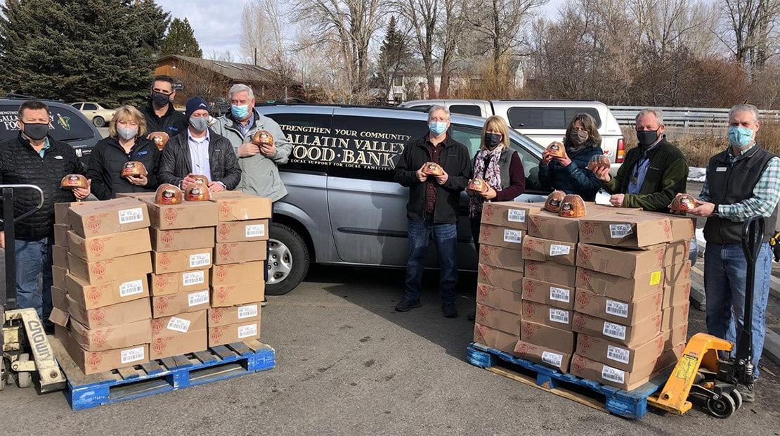 Hams For Hunger Donation