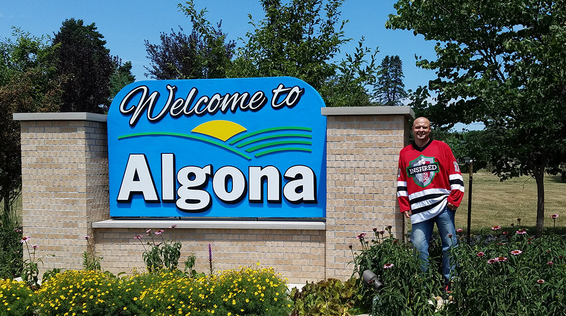 Algona sign