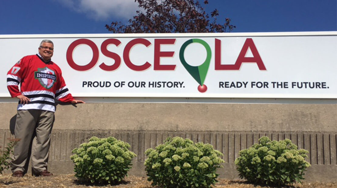 Osceola sign