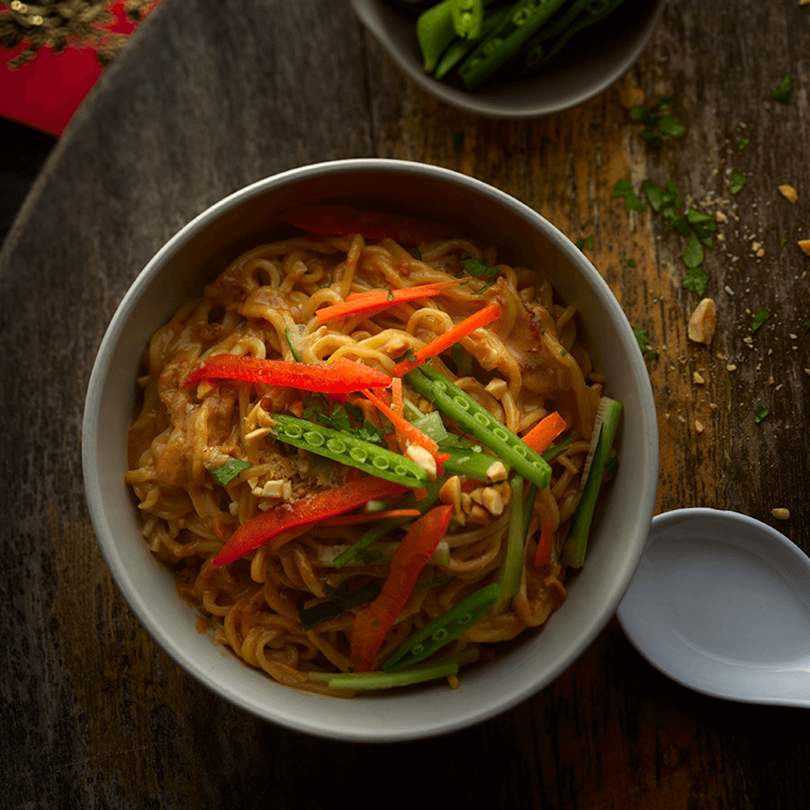 Asian style noodles in a bowl