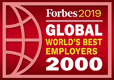 Forbes 2019 World's Best Employers logo