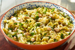 A big bowl of cabbage and beans