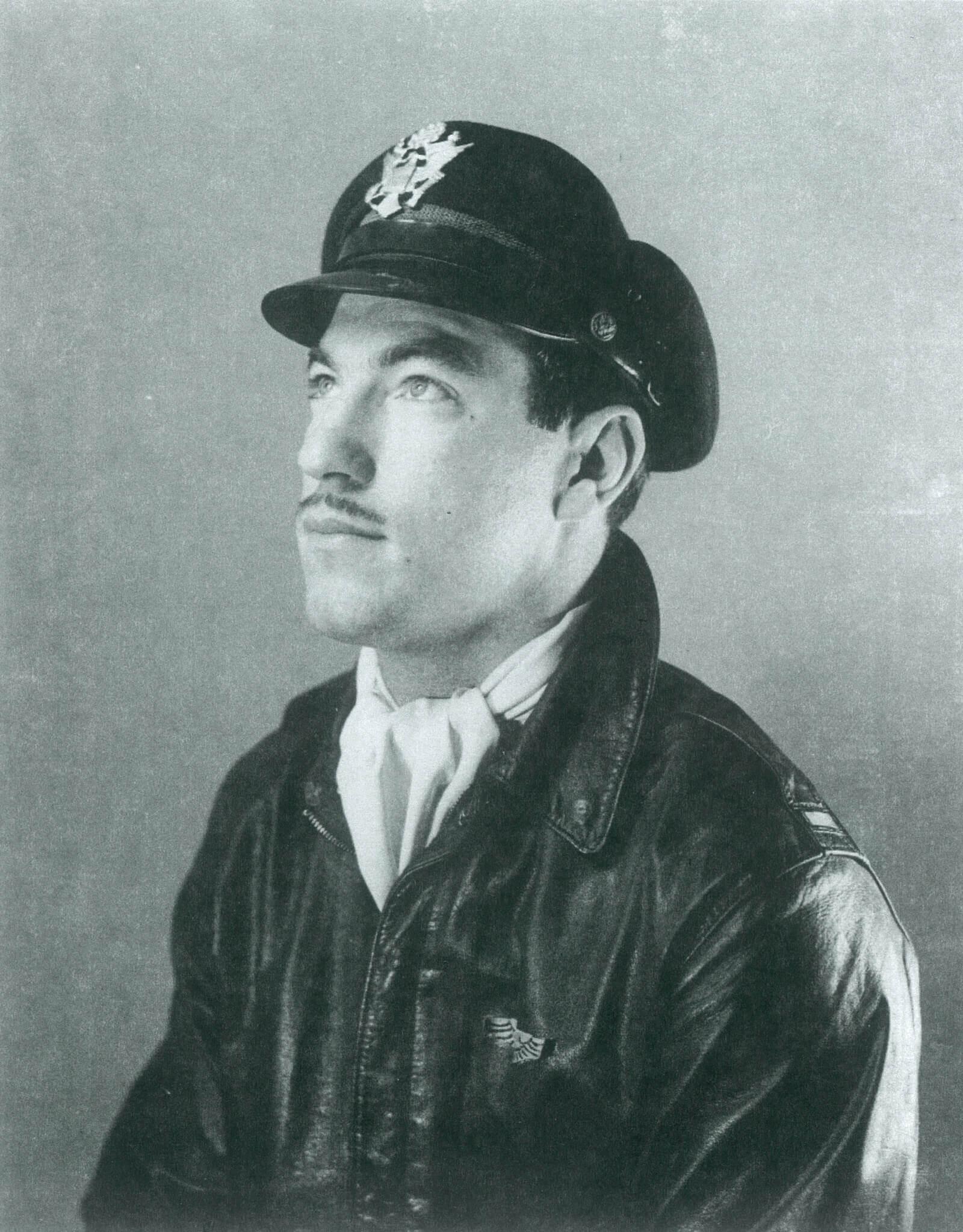Chuck Baker in uniform
