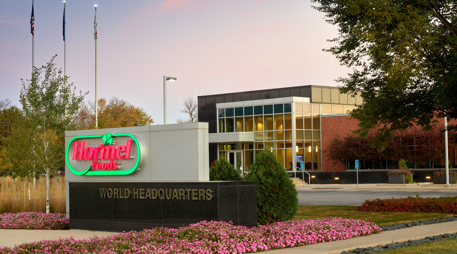 an exterior shot of Hormel Foods HQ