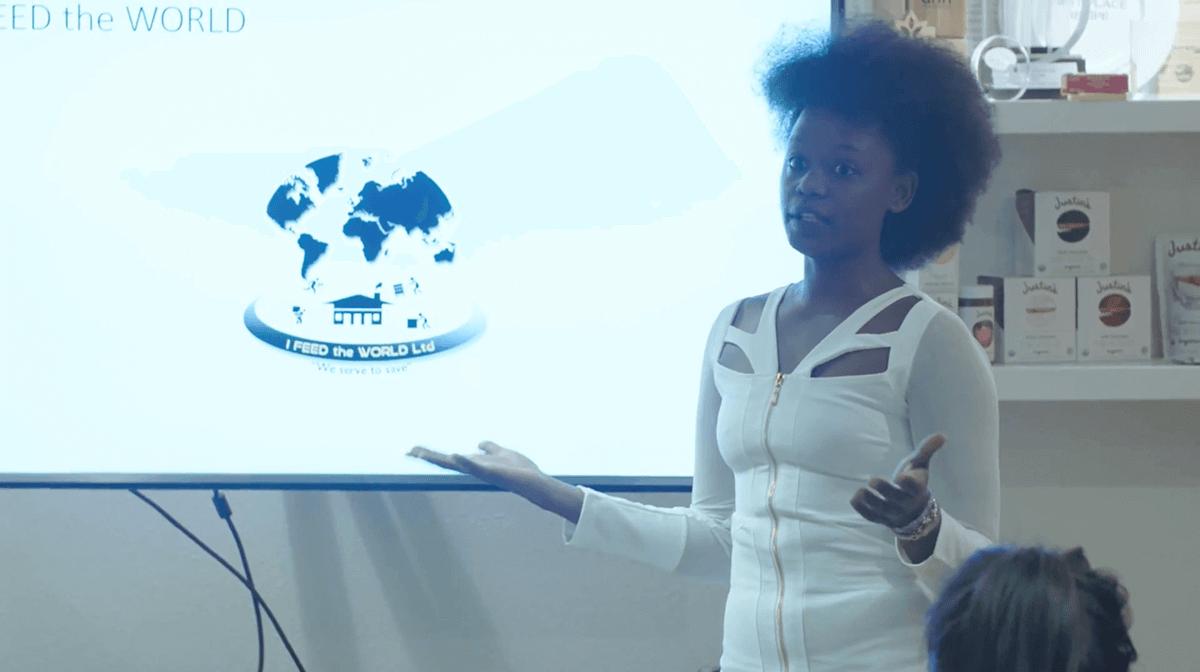 Grace giving her presentation