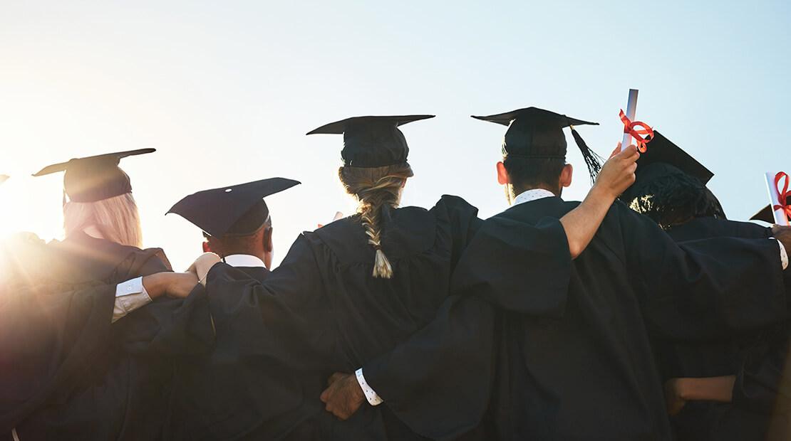 Students in Graduation Caps