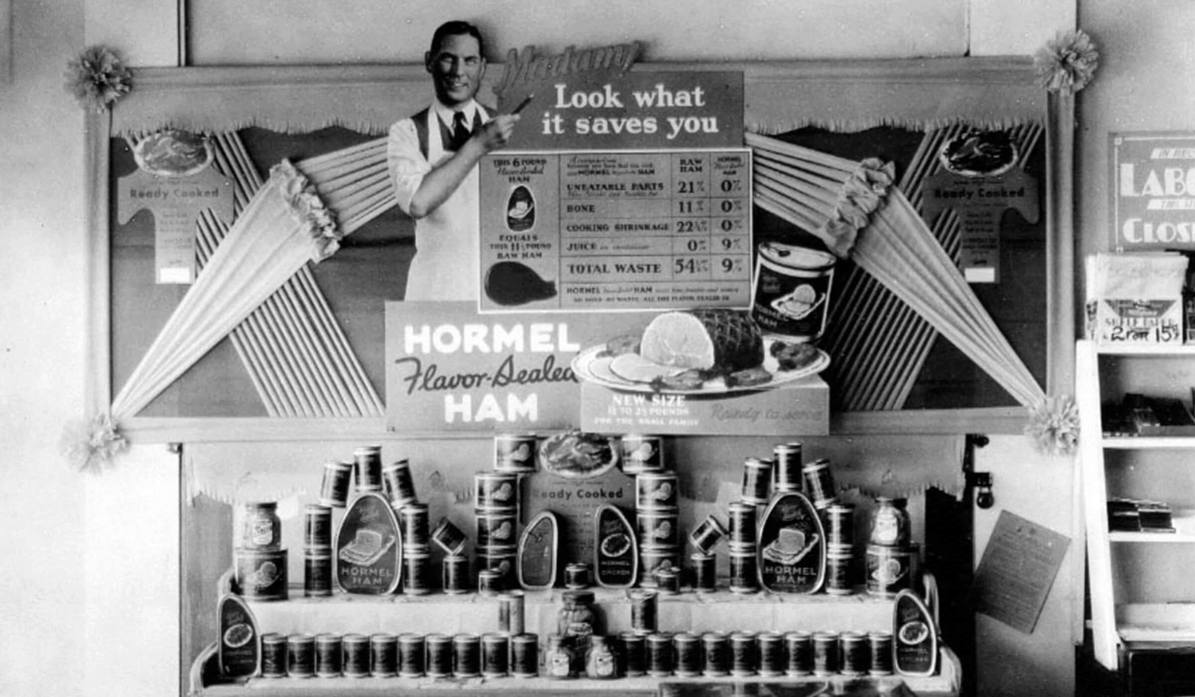 Historic Hormel Foods ham advertisement