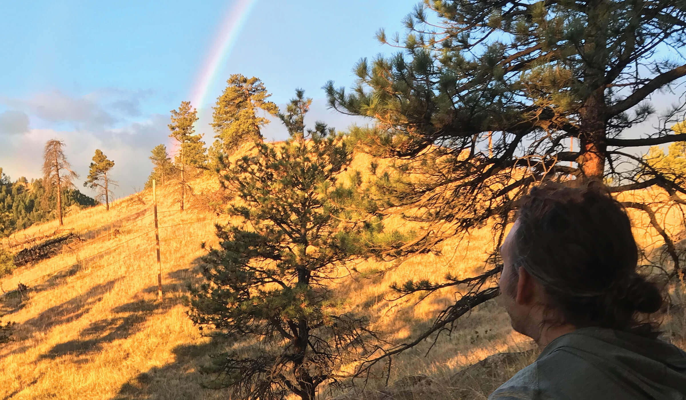 Justin Gold on a hike during an interview for the Our Food Journey Podcast